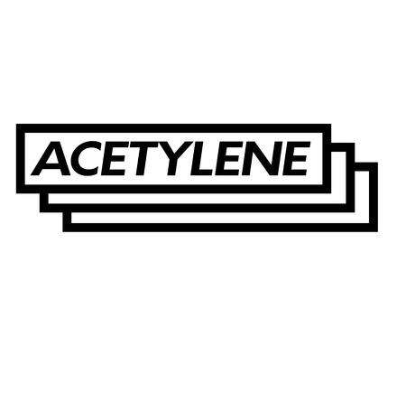 acetylene stamp on white background . Sign, label sticker