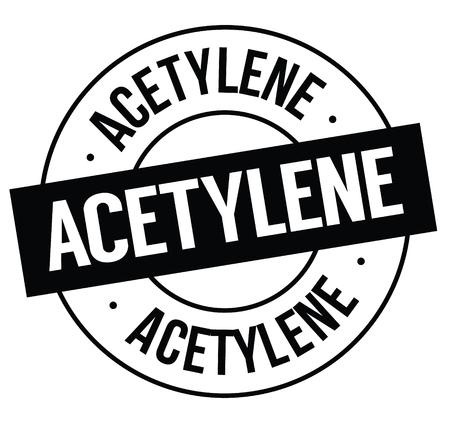 acetylene stamp on white Illustration