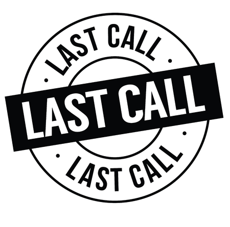 last call stamp on white background . Sign, label, sticker Stock fotó - 111884392