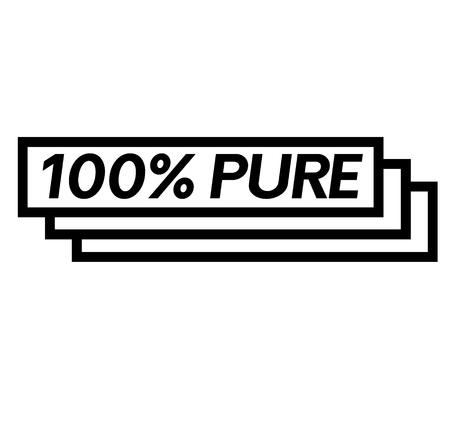 100 percent pure stamp on white background . Sign, label, sticker Illustration