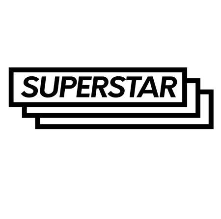superstar stamp on white