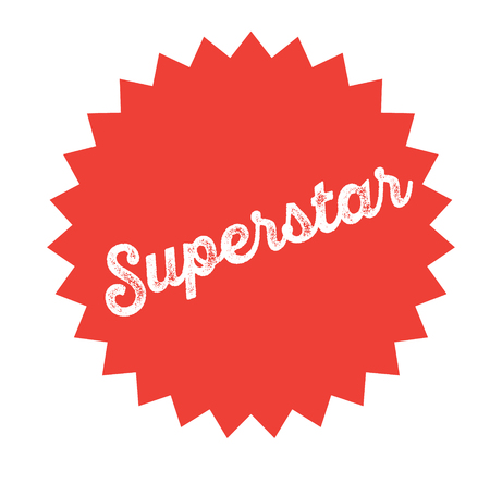 superstar stamp on white