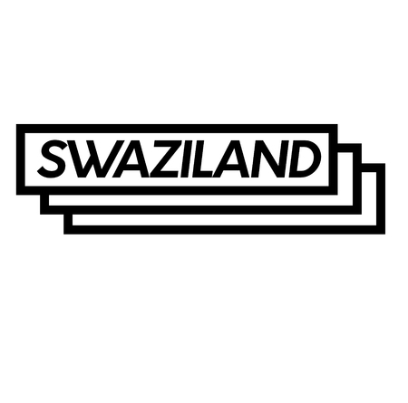 swaziland stamp on white background . Sign, label sticker Standard-Bild - 111884403