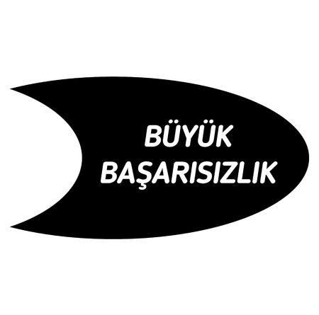 epische mislukking bla ck-stempel in de Turkse taal. Teken, label, sticker.