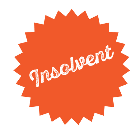insolvent stamp on white background . Sign, label sticker Çizim