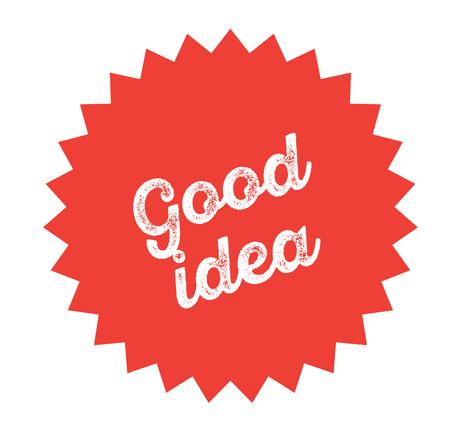good idea stamp on white background . Sign, label, sticker Banque d'images - 111884420