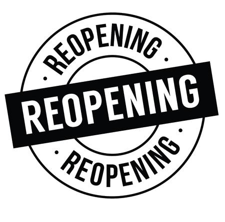 reopening stamp on white