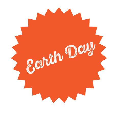 earth day stamp on white background . Sign, label, sticker Standard-Bild - 111884430
