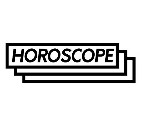 horoscoop stempel op wit