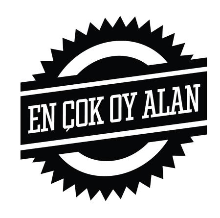 top rated bla ck stamp in turkish language. Sign, label, sticker.