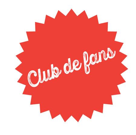 fan club bl ack stamp in spanish language. Sign, label, sticker.