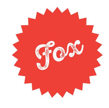 fox stamp on white