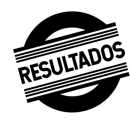 results bl ack stamp in spanish language. Sign, label, sticker