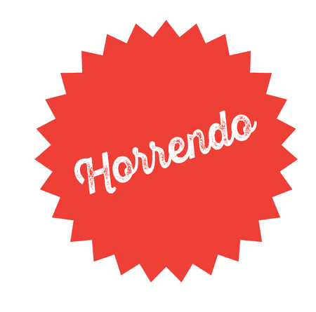 horrific bl ack stamp in spanish language. Sign, label, sticker Illustration