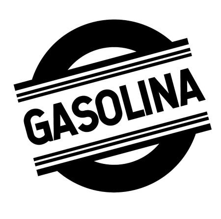 gasoline bl ack stamp in spanish language. Sign, label, sticker