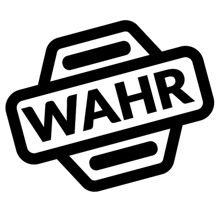 true black stamp in german language Illustration