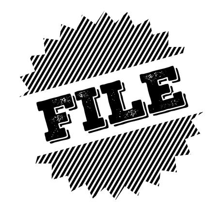 file black stamp on white background