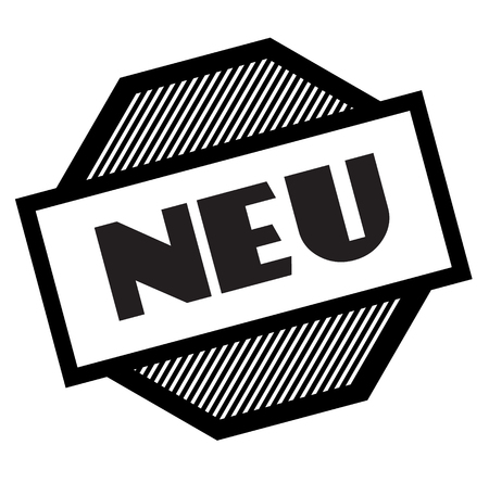 new black stamp in german language
