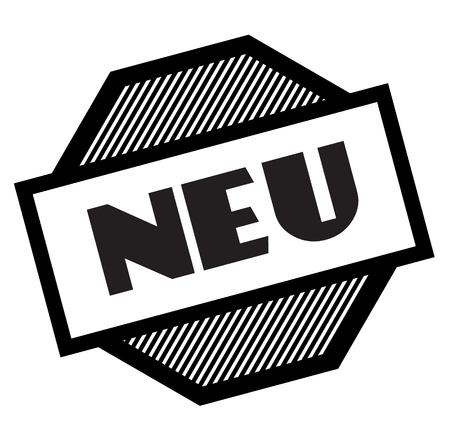 new black stamp in german language