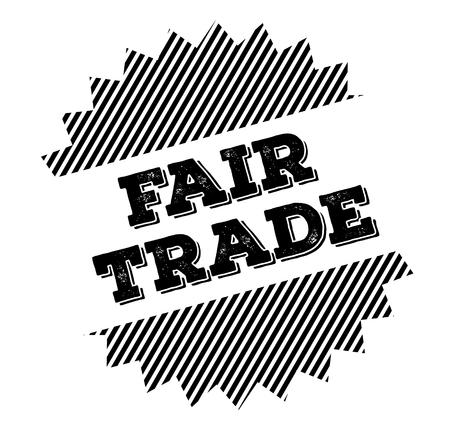 fair trade black stamp on white background