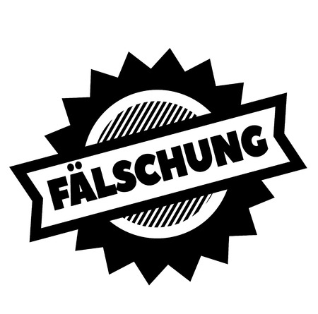 fake black stamp in german language Illustration