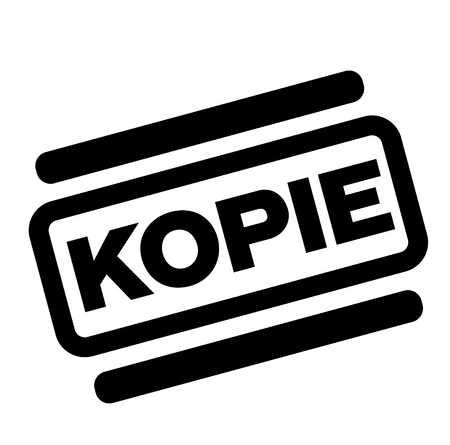 copy black stamp in german language