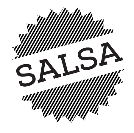 salsa black stamp on white background Illustration
