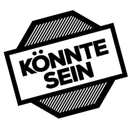 maybe black stamp in german language Illustration