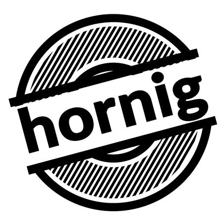 horny black stamp in german language