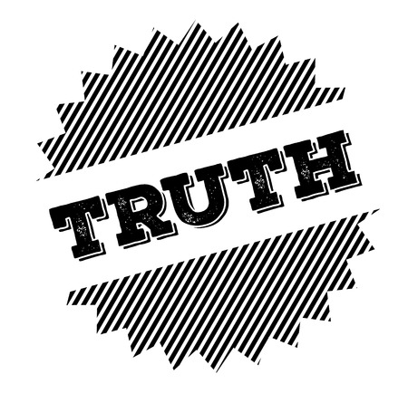 truth black stamp on white background