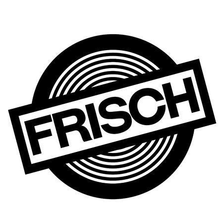 fresh black stamp in german language