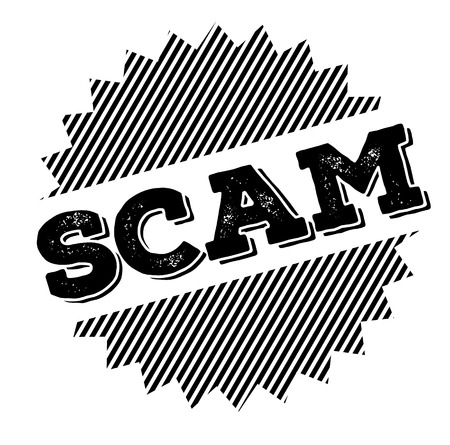 scam black stamp on white background 向量圖像