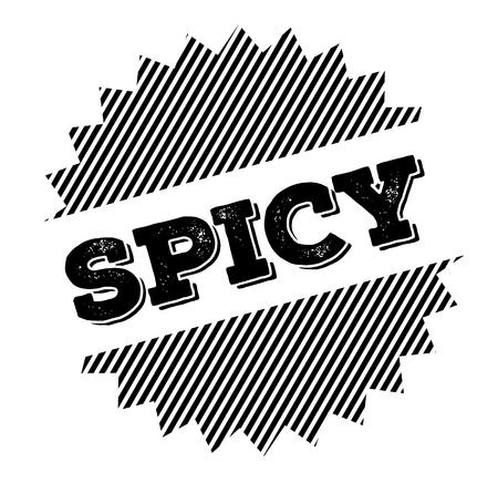 spicy black stamp on white background Illustration