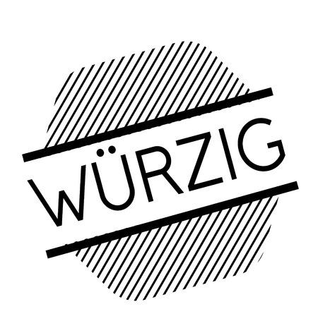spicy black stamp in german language Illustration