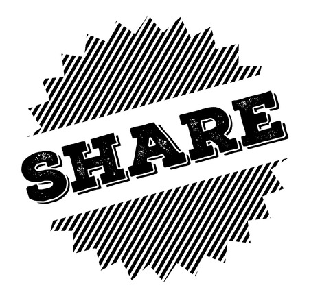 share black stamp on white background