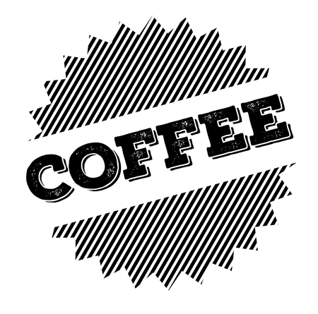 coffee black stamp on white background