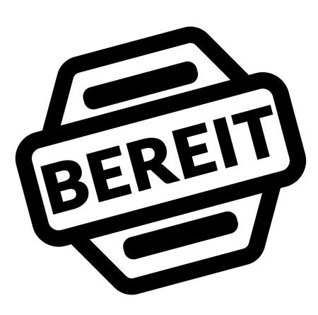 ready black stamp in german language