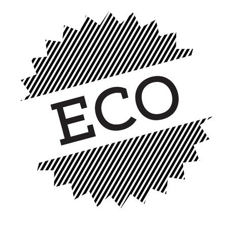 eco black stamp on white background Standard-Bild - 111845452