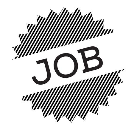 job black stamp on white background
