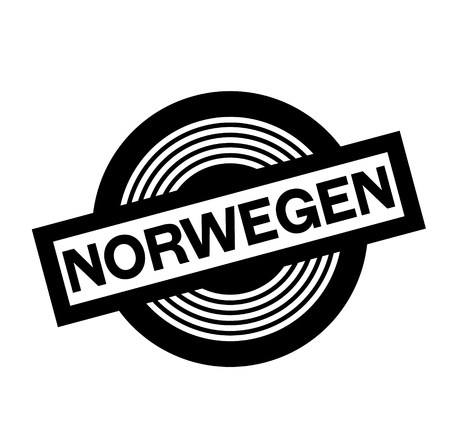norway black stamp in german language
