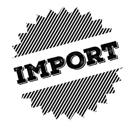 import black stamp on white background