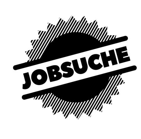 job hunt black stamp in german language