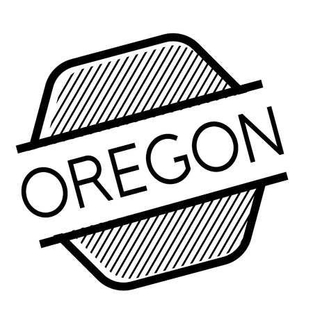 oregon black stamp in german language  イラスト・ベクター素材