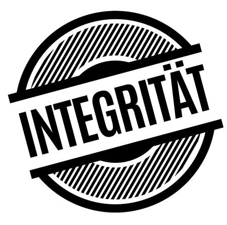 integrity black stamp in german language