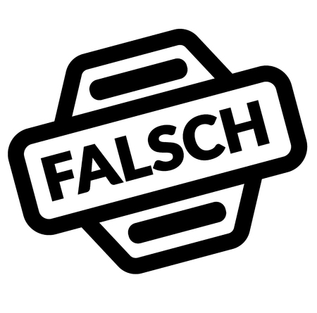 false black stamp in german language