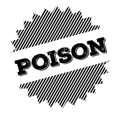 poison black stamp on white background Illustration