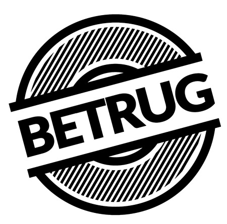 fraud black stamp in german language