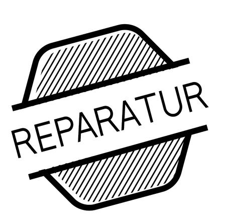 repair black stamp in german language Stock fotó - 111845483