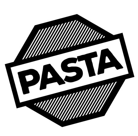 pasta black stamp in german language Ilustracja
