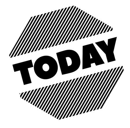 today black stamp on white background Illustration